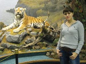 А в музее тигр не такой уж и страшный!