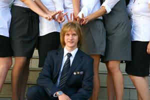 Никита Косинов и одноклассницы