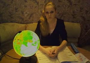 Анастасия Радийчук, ночь и глобус