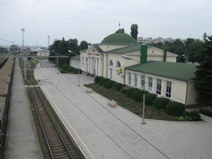 Ж/д вокзал в Нальчике. Фото Дмитрий Грицкова