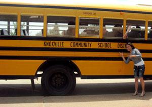 а этот автобус повезет нас на учебу